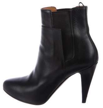 Balenciaga Leather Almond-Toe Booties