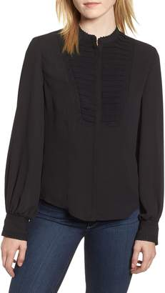 Rebecca Minkoff Lace Detail Pleat Yoke Blouse