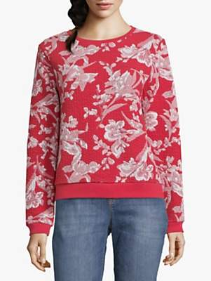 Co Betty & Floral Print Jumper, Red