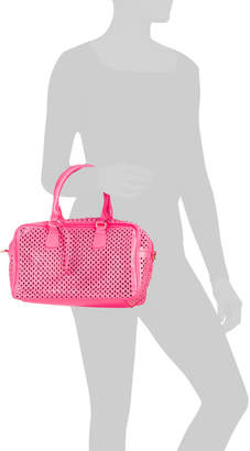Perforated Bowler Bag With Shoulder Strap