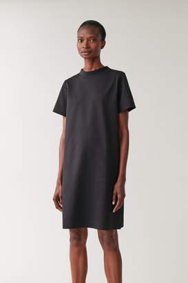 Cos MOCK NECK COTTON DRESS