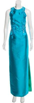 Josie Natori Embroidered Maxi Dress