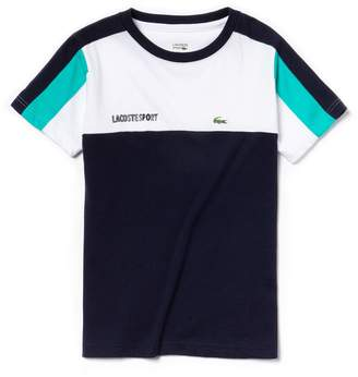 Lacoste Boys' SPORT Crew Neck Colorblock Jersey Tennis T-shirt