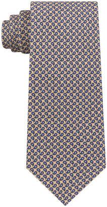 Club Room Men's Mini Pine Print Silk Tie, Created for Macy's