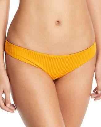 Mara Hoffman Zoa Tonal-Striped Solid Swim Bikini Bottoms
