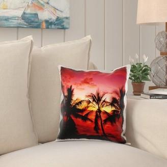 Bay Isle Home Annie Beach Palm Trees, Kona, Hawaii, USA Pillow Cover Bay Isle Home
