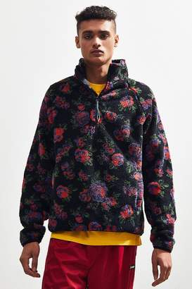 Urban Outfitters Sherpa Floral Pullover Jacket