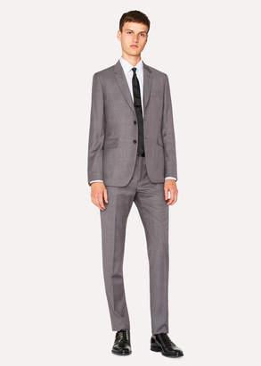 Paul Smith The Kensington - Men's Slim-Fit Grey And Damson Glen Check Suit