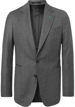 Paul Smith Grey Soho Slim-Fit Unstructured Wool And Cashmere-Blend Blazer