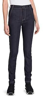 Fendi Women's High-Waist Velvet Logo Jeans
