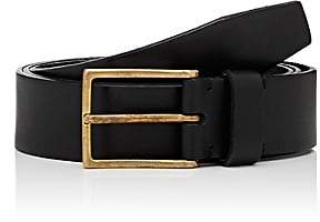 Felisi MEN'S SQUARE-BUCKLE LEATHER BELT-BLACK SIZE 38