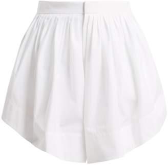 Chloé Pleated cotton shorts