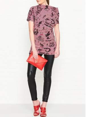 Vivienne Westwood Grateful Print Drape Top - Red