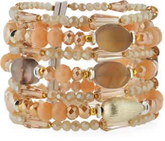 Nakamol Multi-Strand & Mixed Crystal Beaded Bracelet