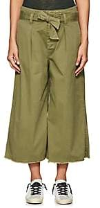 Nili Lotan Women's Ellie Cotton-Blend Drop-Rise Culottes - Army Green