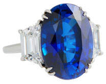 FANTASIA 14k White Gold Synthetic Sapphire Ring