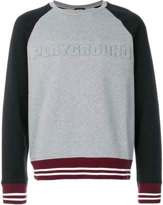 No.21 relief playground motif sweatshirt