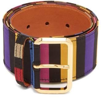 Etro Striped Satin Belt - Womens - Multi