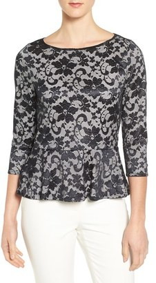 Women's Ivanka Trump Lace Peplum Top $79 thestylecure.com