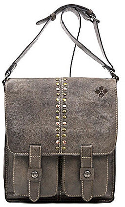 Patricia Nash Distressed Leather Collection Armeno Messenger Bag $199 thestylecure.com