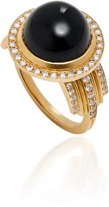 Doryn Wallach Onyx and Diamond Empire Ring