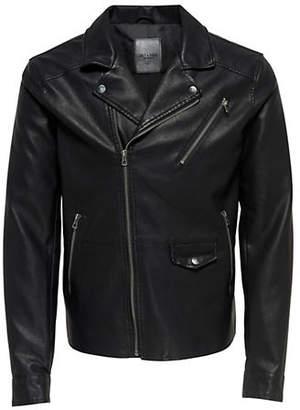 ONLY & SONS Selger Asymmetric Zip Biker Jacket