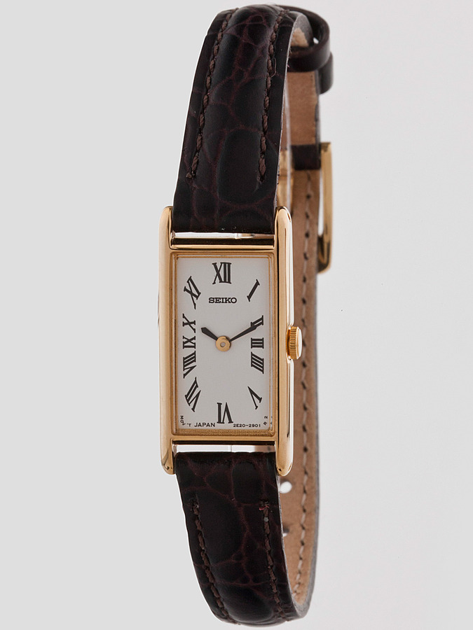 Seiko Vintage Roman Numerals Ladies' Leather Band Watch