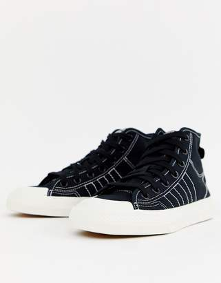 adidas black high top Nizza sneakers