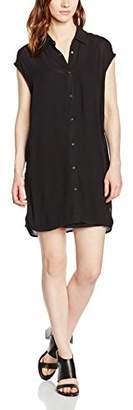 DDP Women's Plain Sleeveless Dress - Black - 8