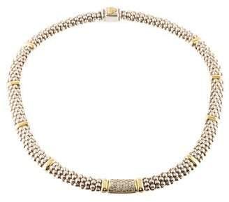 Lagos Two-Tone Diamond Lux Collar Necklace