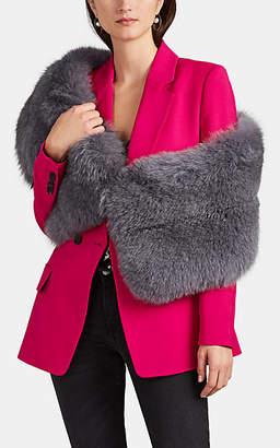 LILLY e VIOLETTA Women's Limited Edition Fox Fur Stole - Gray