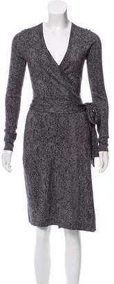 Diane von Furstenberg Linda Knee-Length Wrap Dress