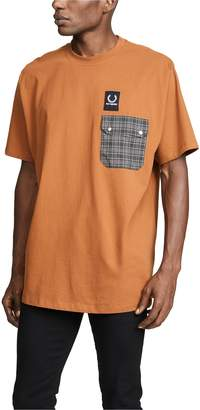 Raf Simons Fred Perry By Fred Perry by Pocket Detail T-Shirt