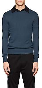 Prada Men's Cashmere Crewneck Sweater-Blue