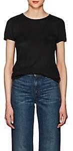 Barneys New York WOMEN'S SILK-CASHMERE SHORT-SLEEVE SWEATER - BLACK SIZE XL