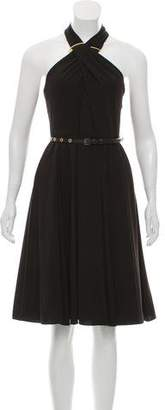 Halston Sleeveless Midi Dress w/ Tags