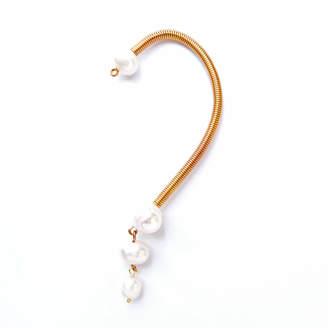 Anni Jürgenson 24-Karat Gold-Plated Pearl Ear Cuff