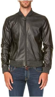 Trussardi Eco Leather Bomber Jacket