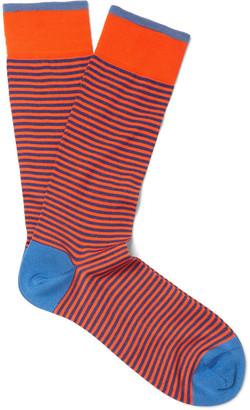 Marcoliani Striped Pima Cotton-Blend Socks $30 thestylecure.com