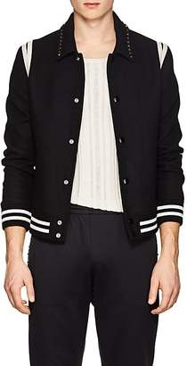 Valentino Men's Rockstud Wool Teddy Jacket