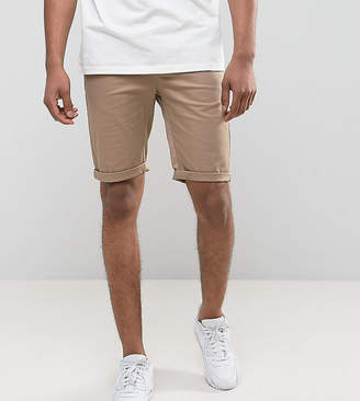 Asos DESIGN TALL Skinny Chino Shorts In Stone