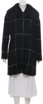 Akris Punto Wool-Blend Fur-Trim Short Coat