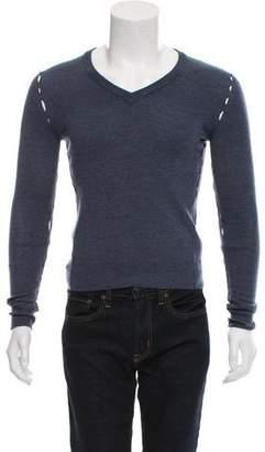 Maison Margiela V-Neck Cutout Sweater