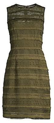 Elie Tahari Women's Renee Crochet Sheath Dress