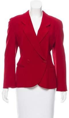 Giorgio Armani Double-Breasted Wool Blazer