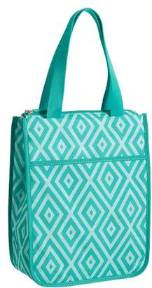 Pottery Barn Teen Gear-Up Preppy Diamond Tote Lunch Bag, Pool