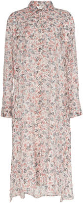 Etoile Isabel Marant Eliane Floral-Print Cotton-Voile Dress