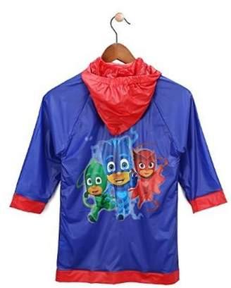 Disney Little Boys' PJ Masks Waterproof Outwear Hooded Rain Slicker (Medium)