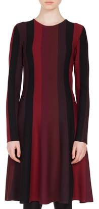 Akris Punto Stripe Wool Dress