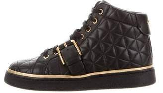 Balmain 2017 Quilted Leather Sneakers w/ Tags